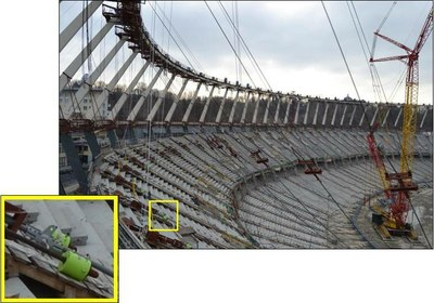 cylinder working in the olympic stadium